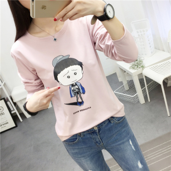 LOOESN Korean-style Spring and Autumn New style Plus-sized base shirt (172