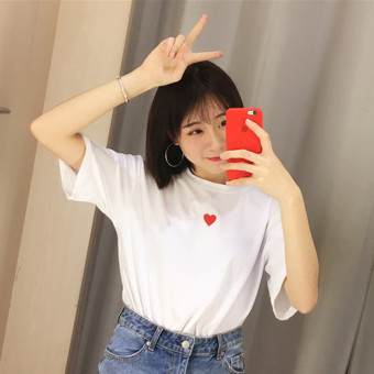 LOOESN Korean-style spring and summer New style round neck t-shirt (8104