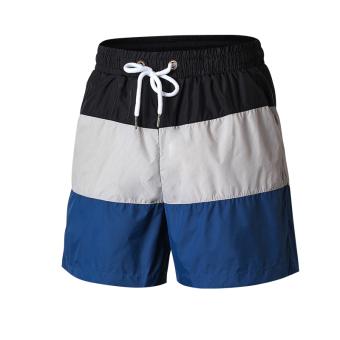 Jual LOOESN laki-laki kebugaran pelatihan berjalan celana pendek basket kebugaran celana pendek (Hitam dan abu-abu biru tua) Terpercaya