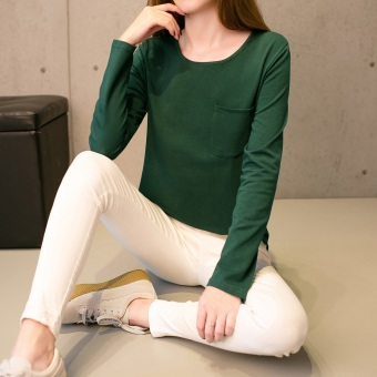 LOOESN versatile outerwear Women's Top Korean-style long-sleeved t-shirt (126