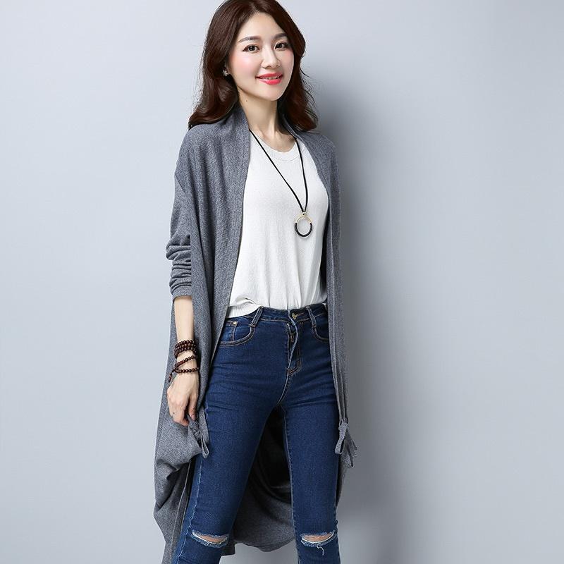 Looesn Perempuan Cardigan Bagian Panjang Tipis Sweater Korea Fashion Source · sweater Korea Fashion Style merajut
