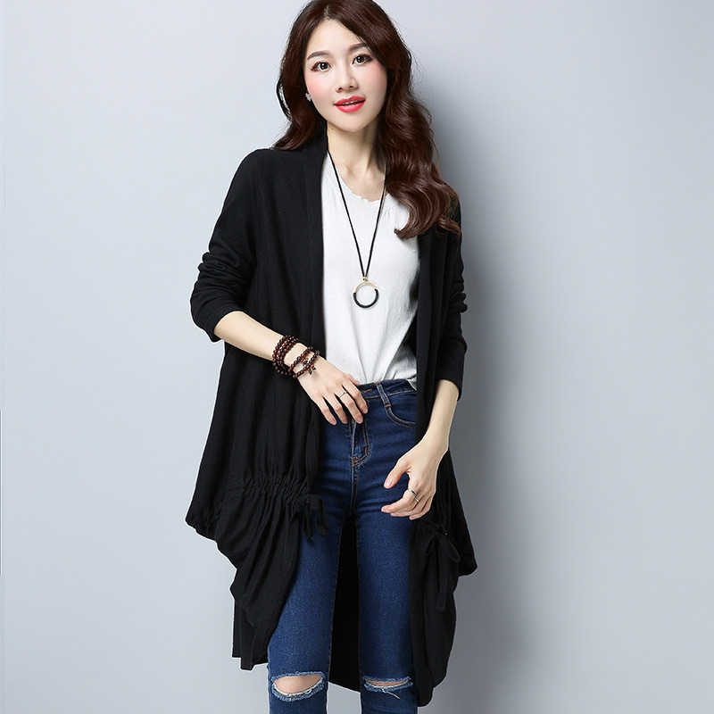 Korea Fashion Style Tipis Selendang Perempuan Udara Kemeja Merajut Source · LOOESN warna solid perempuan tipis lengan panjang rajut jaket merajut kardigan ...