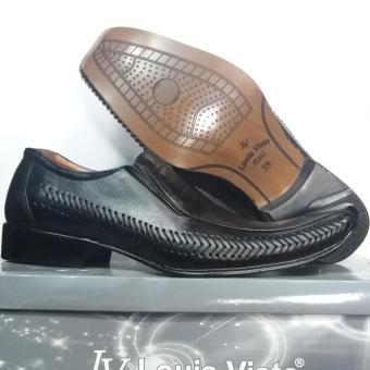 Harga Louis Visto sepatu pria formal kulit asli model LV 206 Black Terbaru klik gambar.