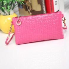 Lovely Tas Selempang Mini Sling Bag Wanita Motif Crocodile - Pink