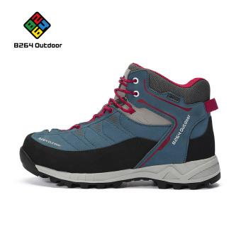 Luar ruangan pria kulit musim gugur dan musim dingin sepatu hiking sepatu hiking (Y642026065 biru