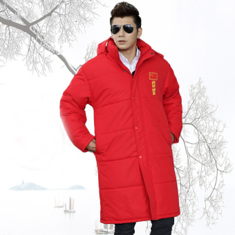 Harga Luar Rumah Baju Katun Sampai Atas Lutut Sangat Panjang Baju Olahraga  Jas (Cina Merah) Ori 8a307e63fb