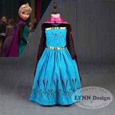 Lynn Design -Baju Dress Kostum Elsa Anak Frozen Jubah Merah