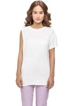 LZD Asymmetrical Sleeve Top (White)