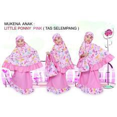 Madeena - Mukena Anak Karakter Little Pony Tas Slempang - Pink