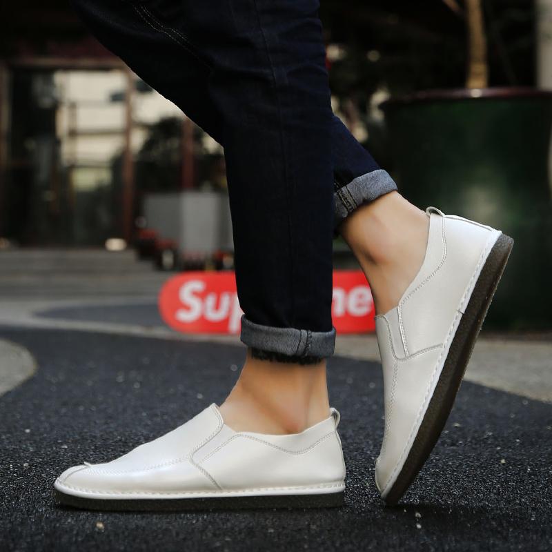 Flash Sale Malas British bagian tipis bernapas sepatu kasual Peas sepatu (Putih)