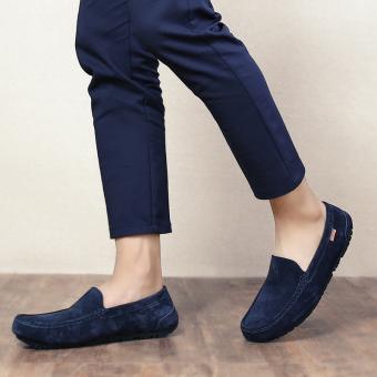 Belanja Terbaik Malas Korea Fashion Style kulit laki-laki musim semi dan musim gugur sepatu