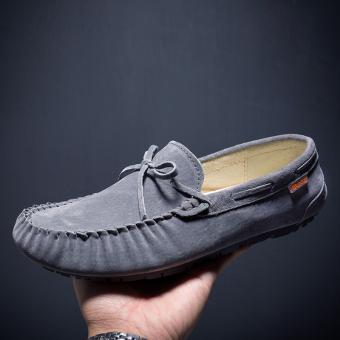 Penawaran Bagus Malas Korea Fashion Style kulit laki-laki musim semi dan musim gugur sepatu