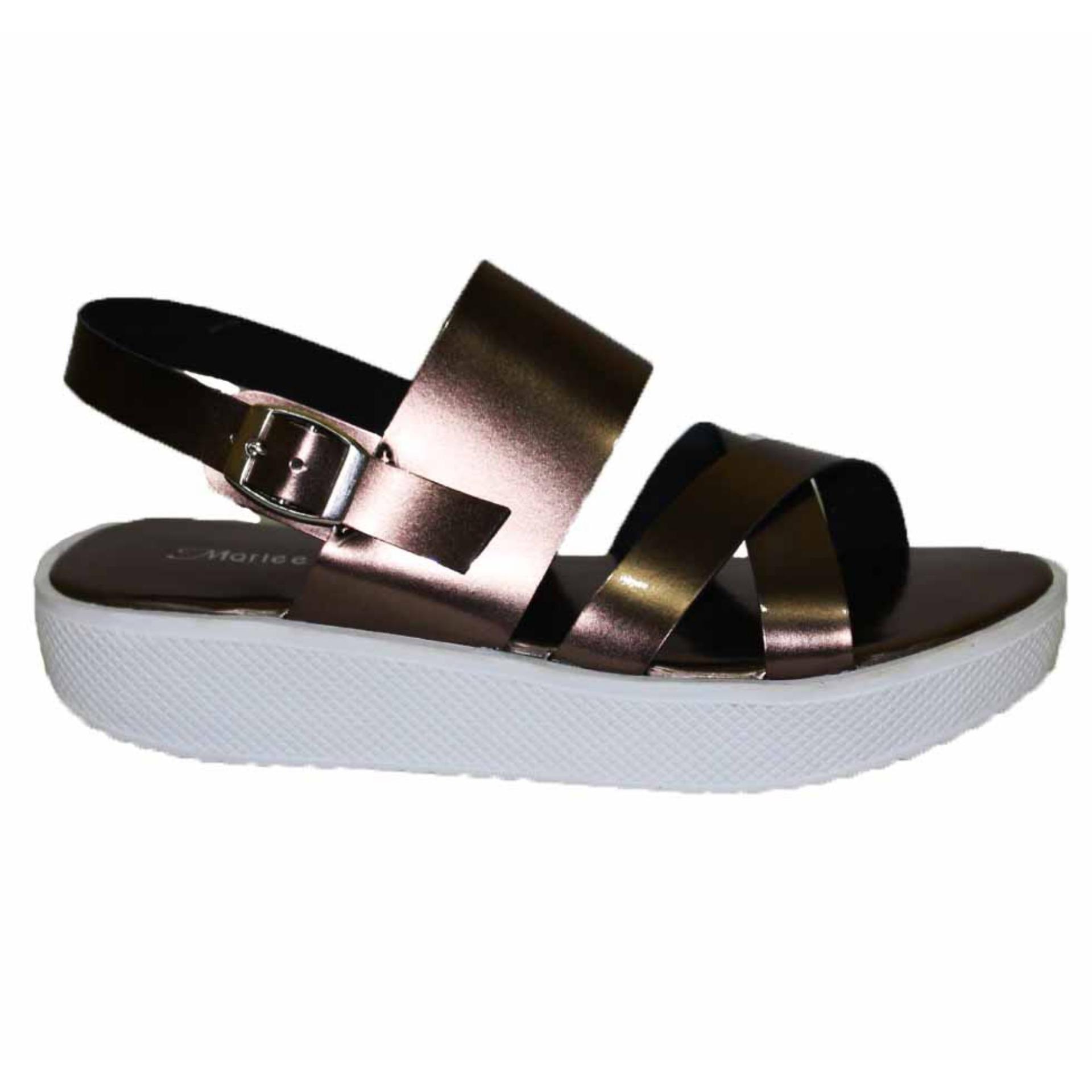 Marlee Dn 20 Sandal Flat Kunyit5 Terlengkap Anneliese Leony Sandal Flat Wanita Brown Ac 04 Plaform