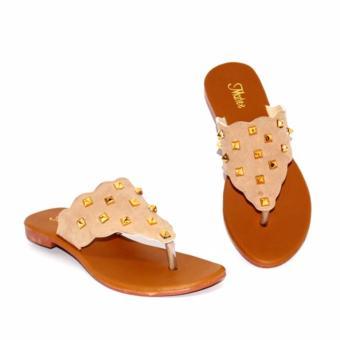 Marlee DN-23 Flip Flop Sandal Flat Wanita - Cream