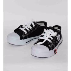 Marlee Sneaker Tali Anak  Unisex - Hitam