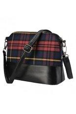 Marlow Jean Tas Fashion Wanita Messanger Bag Shoulder Bag Motif Kotak-Kotak - Merah
