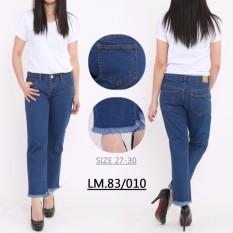 master jeans celana boyfriend wanita sobek rawis