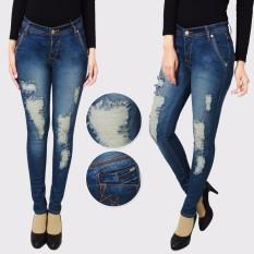 master jeans celana wanita sobek puring onr