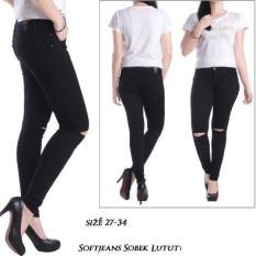 Master Jeans/celana Sobek Silet/hitam