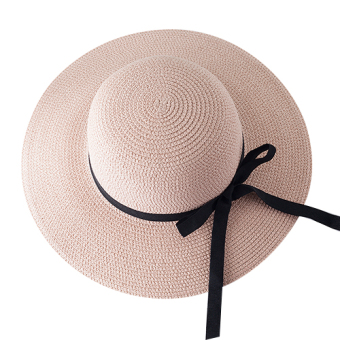 ... Harga Penawaran Matahari Korea Fashion Style musim panas topi topi topi pantai topi jerami Bernapas