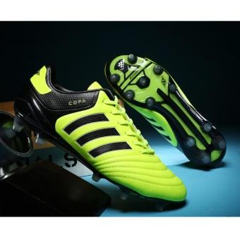 Men & Teenager Long Spikes Football Shoes Professional LongNail Breathable Football Boots - intl