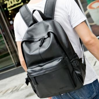 Detail Gambar Men PU kulit ransel Tas tangan pria maupun tas travel - Biru - Terbaru