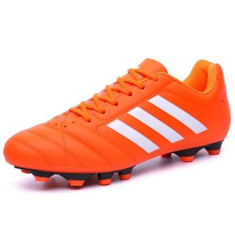 Men Sweat Anti-skid Comfortable Cushioning BreathableWear-resistant Soccer Shoes - intl