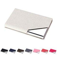 Men Wallet Business Stainless Steel Name Credit ID Card Holder Pocket Case Purse Blue - intl