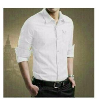 Millero Top - Putih / atasan pria / pakaian pria / kemeja pria /kemeja polos