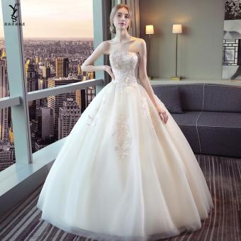 Diskon Penjualan Mimpi Putri sampanye baru wanita hamil pengantin gaun pengantin gaun (Sampanye) Perbandingan