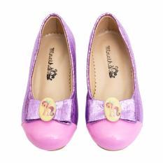 Minetha Kid Shoes Sepatu Anak Perempuan Balerina Flat Usia 1 12 tahun Ungu .