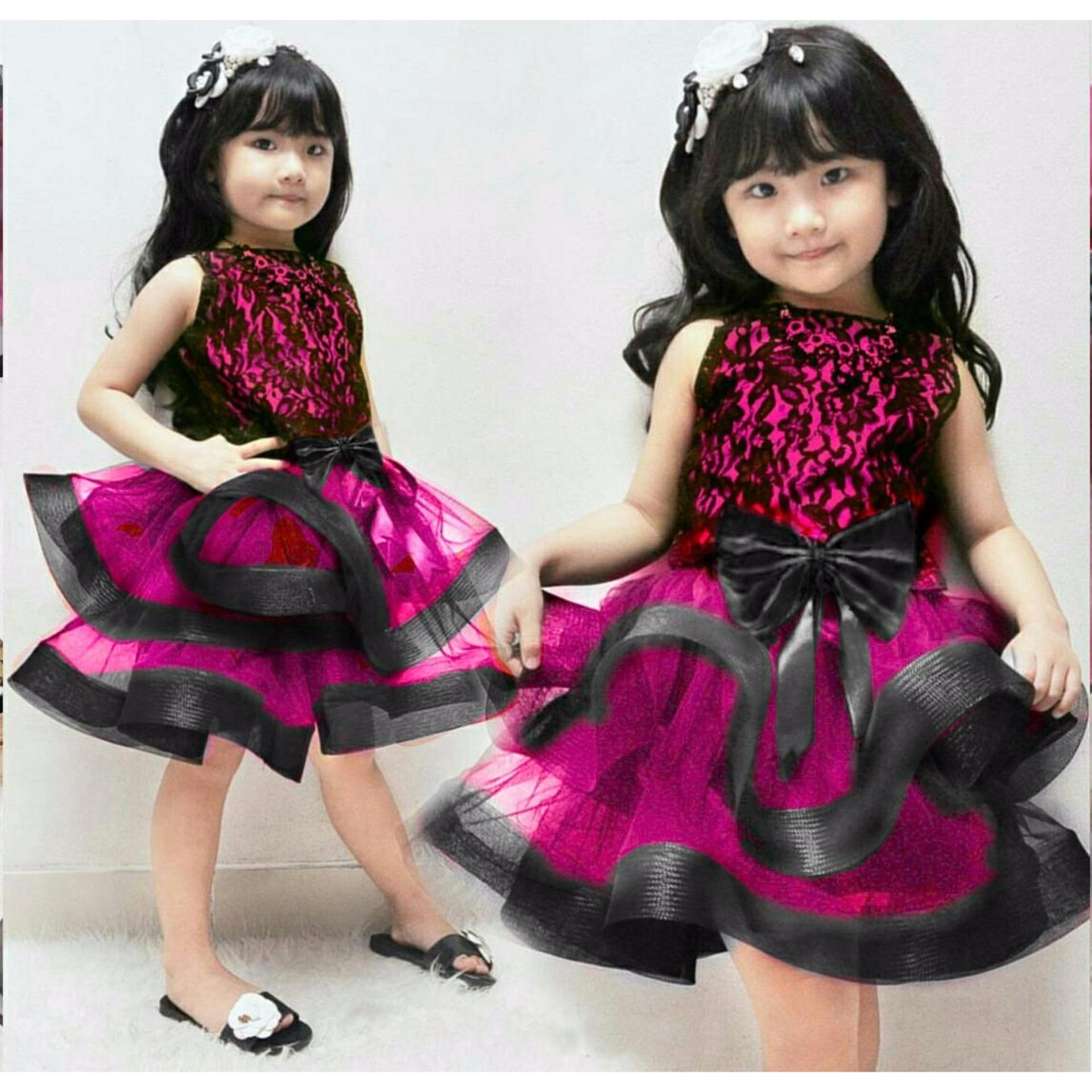 MJ Dress Anak Cinderella Kids - Brukat