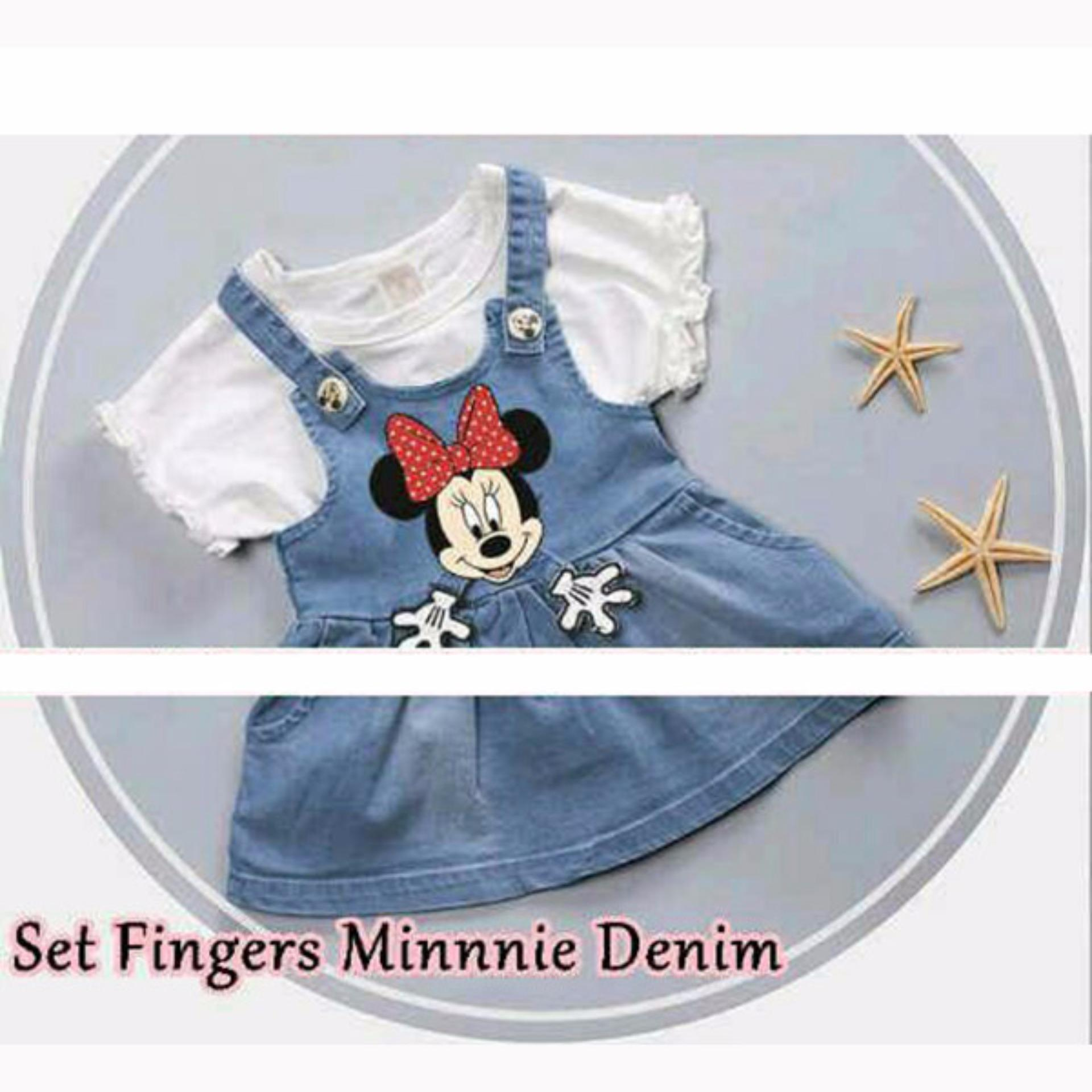 MJ Dress Anak Inner Mini Finger Kids denim - Blue