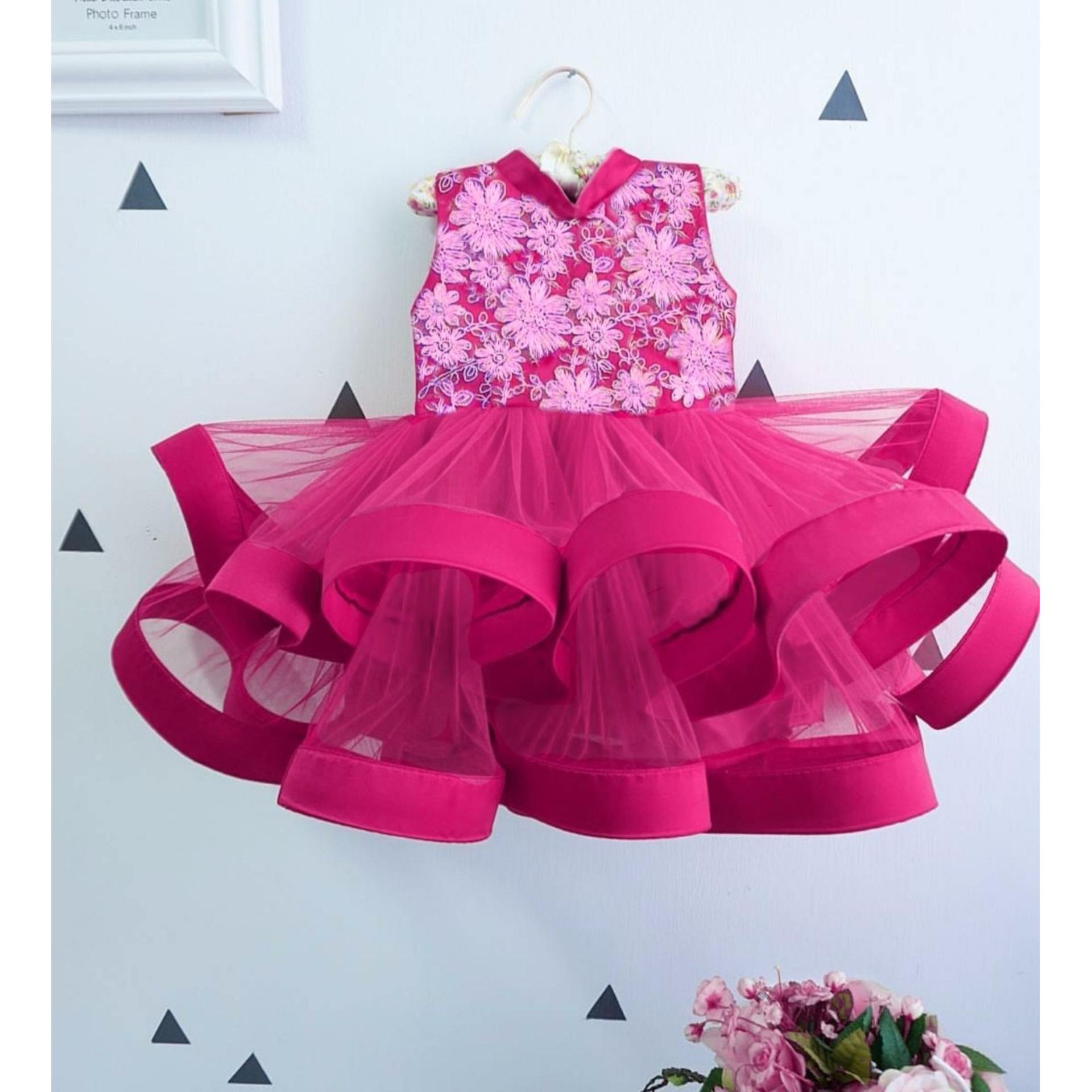 MJ Dress Anak Monalisa Kids - Brukat