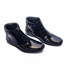 MJ Sepatu Pantofel Pria PDH 03 Sintetis Kilap Kerja Kantor - Hitam Kilap