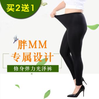 Bandingkan Toko MM es sutra perempuan bagian tipis pinggang tinggi bottoming celana celana (Celana mengkilap