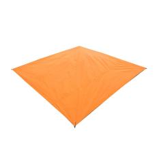 Moonar Fashion Waterproof outdoor terpal ditayangkan piknik berkemah Bay tikar bermain selimut kotak-kotak (jeruk 210 cm x 150 cm) - International