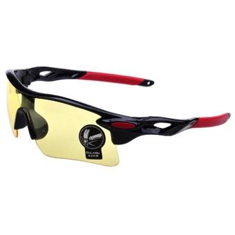 Moreno Outdoor Sport Sunglasses for Man and Woman Kacamata Sepeda Kacamata Olahraga - Hitam Gold