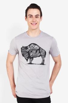 harga Moutley Men Tshirt Grey Lazada.co.id