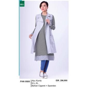 Gambar Muamalah Collection Gamis Long Dress Muslimah Kasual Wanita FHN 0505. Merk: Garsel Fashion