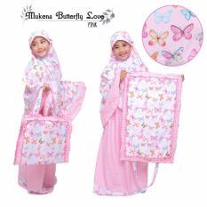Mukena Anak Butterfly Love Pink