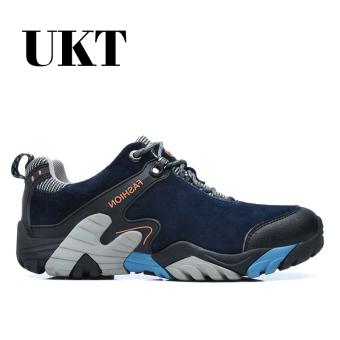 Harga Musim dingin pria ayah laki-laki pria paruh baya ini baru sepatu pria  sepatu sneaker (Biru-kulit suede) 9bacc14a59