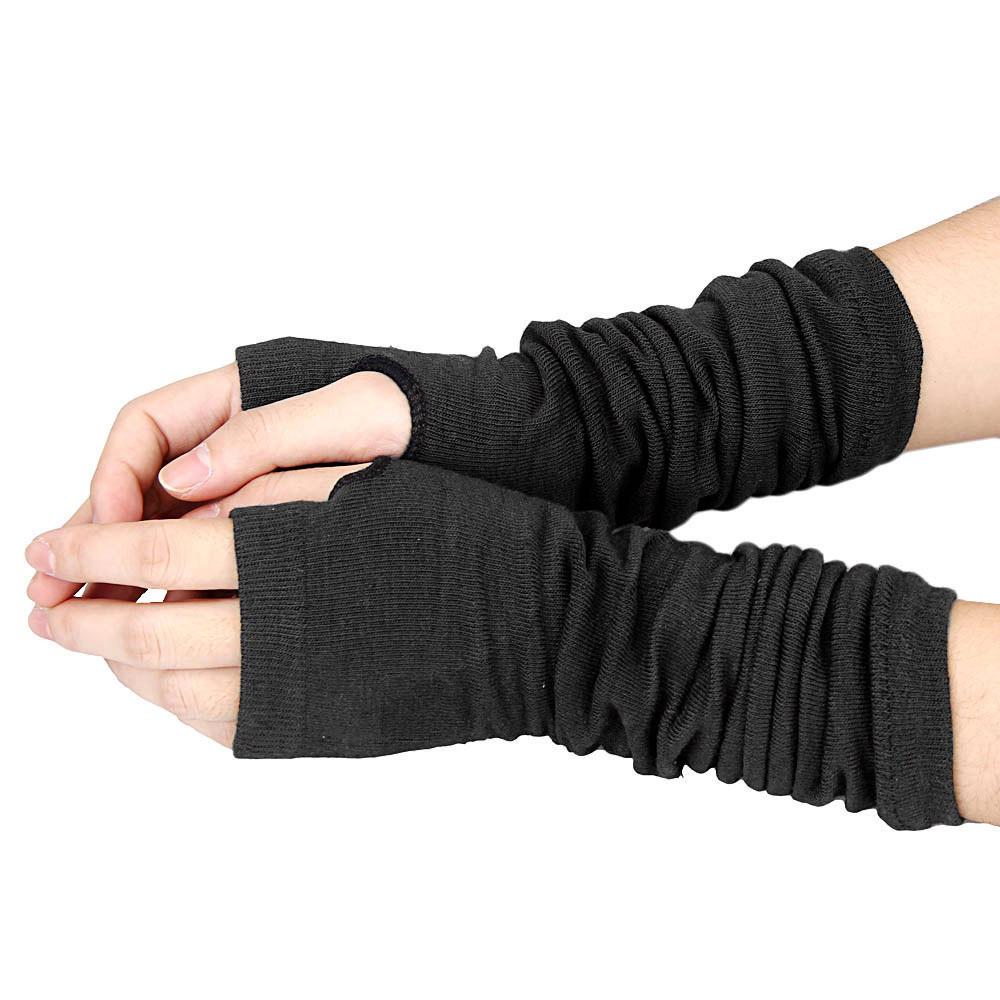 ... Layar Sentuh Sarung Tangan Hitam. Source · Musim dingin yang panjang lengan pergelangan tangan hangat rajutansarung tangan tanpa jari Hitam .