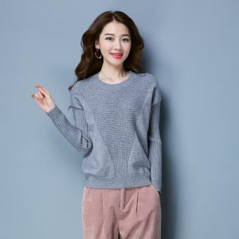 Pencarian Termurah Musim Gugur Baru Kerah Rendah Pullover Sweater (TYF68007 Abu-abu) Bandingkan
