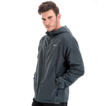 Jual Musim gugur dan musim dingin bernapas cepat kering panjat tahan angin  pakaian anti jaket (Abu-abu) Murah 3768ec5af3