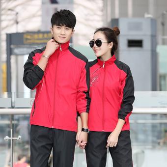 Beli Musim semi dan musim gugur beberapa model bagian tipis dari pria dan wanita kebugaran pakaian (1989 merah) (1989 merah) Murah