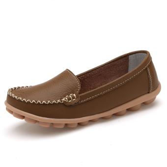 ... Cari Bandingkan Musim semi flat shoes wanita ukuran besar sepatu Peas sepatu Khaki
