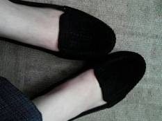 Myanka Jelly Shoes Flat Beludru (Black)