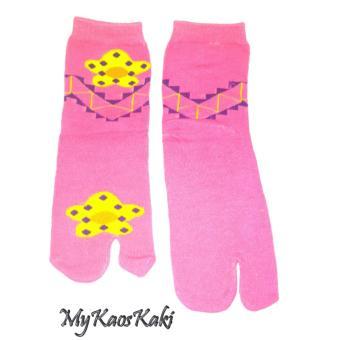 MyKaosKaki - Kaos Kaki Wanita Jempol Bermotif - Pink