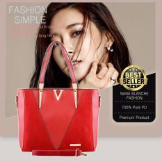 Nana Blanche Valentina Tas Kerja Premium / Tas Sandang / Tas Selempang dan Tas Tangan Wanita - 555 Merah